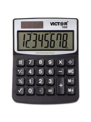 1000 Minidesk Calculator, Solar/Battery, 8-Digit LCD