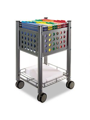 Sidekick File Cart, One-Shelf, 13 3/4w x 15 1/2d x 26 1/4h, Matte Gray