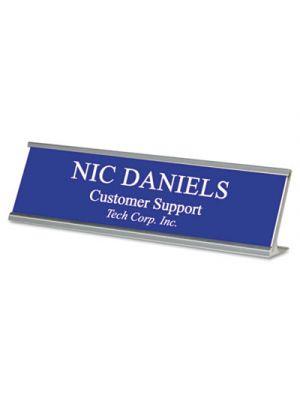 Custom Desk/Counter Sign, 2x8, Silver Frame