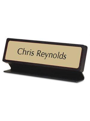 Custom Desk/Counter Sign, 2x8, Black Designer Frame