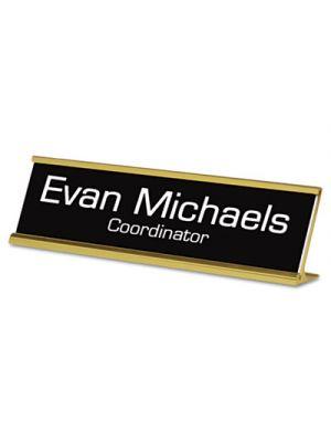 Custom Desk/Counter Sign, 2x8, Gold Frame