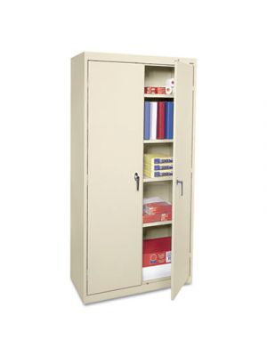 Economy Assembled Storage Cabinet, 36w x 18d x 72h, Putty