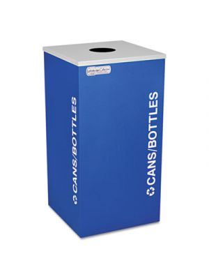 Kaleidoscope Collection Recycling Receptacle, 24gal, Royal Blue