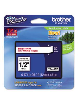 TZe Standard Adhesive Laminated Labeling Tape, 1/2