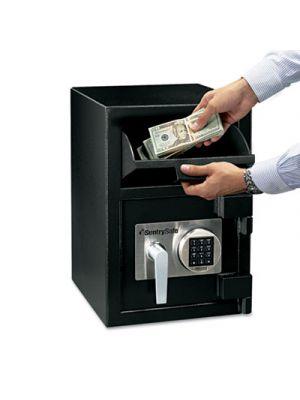Digital Depository Safe, Large, 0.94 ft3, 14w x 15 3/5d x 20h, Black