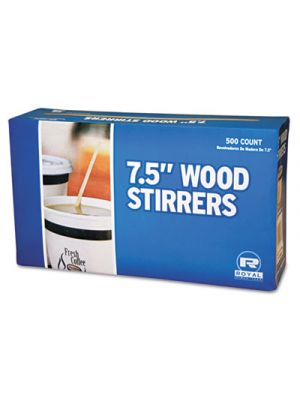 Wood Coffee Stirrers, 7 1/2