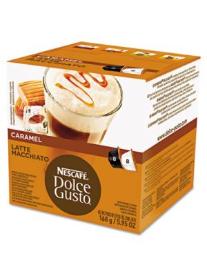 Coffee Capsules, Caramel Latte Macchiato, 1.93oz, 16/Box