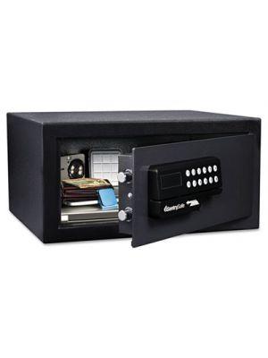 Electronic Security Safe, 0.41 ft3, 11 2/5w x 10 2/5d x 7 3/5h, Black