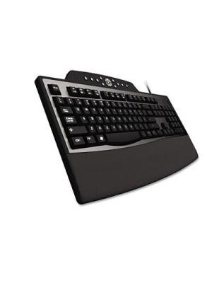 Pro Fit Comfort Keyboard, Internet/Media Keys, Wired, Black