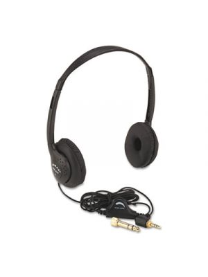Personal Multimedia Stereo Headphones with Volume Control, Black