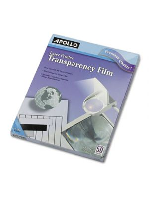 B/W Laser Transparency Film, Letter, Clear, 50/Box