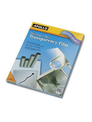 Plain Paper B/W Laser Transparency Film, Letter, Clear, 100/Box