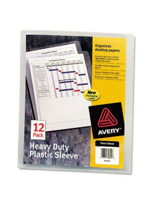 Heavy-Duty Plastic Sleeves; Letter; Polypropylene; Clear; 12/Pack