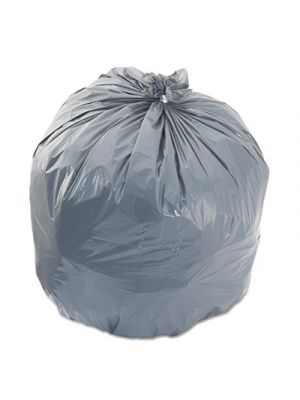 Low-Density Can Liners, 33gal, 1.1mil, 33 x 39, Gray, 25 Bags/Roll, 4 Rolls/CT