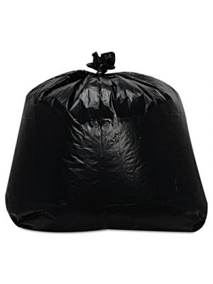 Low-Density Can Liners, 1.6mil, 56gal, 23w x 20d x 47h, Black, 100/Carton