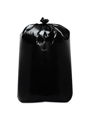 Low-Density Can Liners, 60gal, 22w x 16d x 58h, Black, 100/Carton