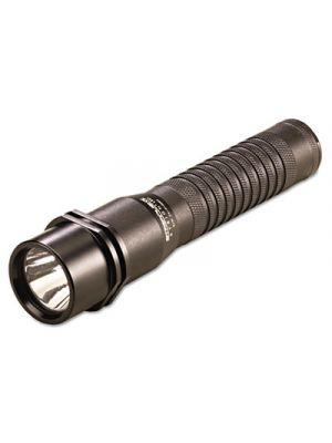 Strion LED Rechargeable Flashlight, 3.75V Lithium-Ion, 120V AC/DC Charger, Black