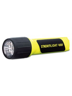 ProPolymer LED Flashlight, 4AA (Included), Yellow/Black