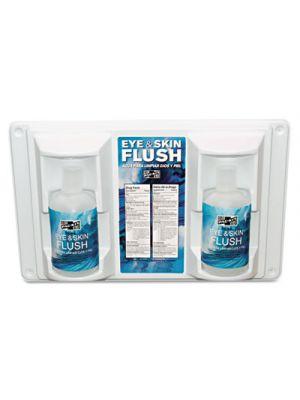 Twin Bottle Eye Flush Station w/Two 16oz Bottles, 3.75