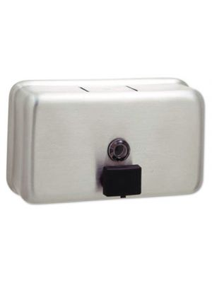 ClassicSeries Surface-Mounted Liquid Soap Dispenser, 40 oz, Metal