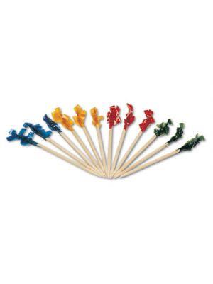 Regular Cellophane-Frill Wood Picks, 2 1/2
