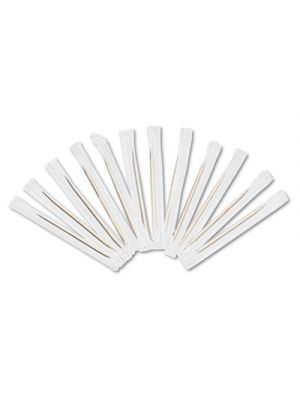 Cello-Wrapped Round Wood Toothpicks, 2 1/2