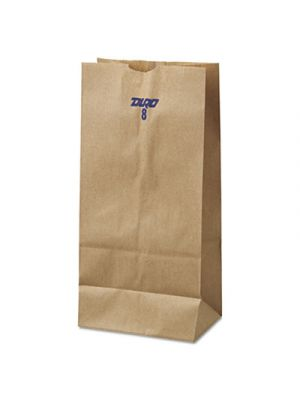 #8 Paper Grocery Bag, 35lb Kraft, Standard 6 1/8 x 4 1/6 x 12 7/16, 500 bags