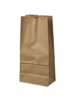 #16 Paper Grocery Bag, 40lb Kraft, Standard 7 3/4 x 4 13/16 x 16, 500 bags