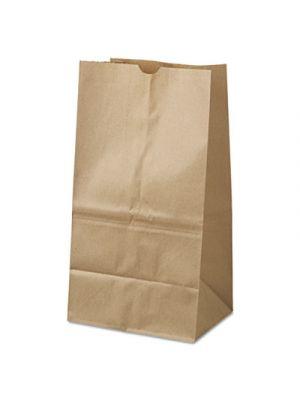#25 Squat Paper Grocery Bag, 40lb Kraft, Standard 8 1/4 x6 1/8 x15 7/8, 500 bags