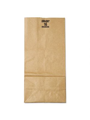 #16 Paper Grocery Bag, 57lb Kraft, Extra-Heavy-Duty 7 3/4 x4 13/16 x16, 500 bags