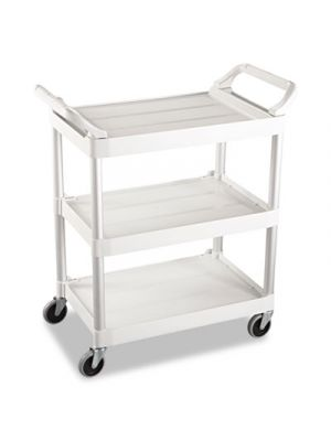 Service Cart, 200-lb Cap, Three-Shelf, 18-5/8w x 33-5/8d x 37-3/4h, Off-White