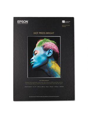 Hot Press Bright Fine Art Paper, 13 x 19, Bright White, 25 Sheets