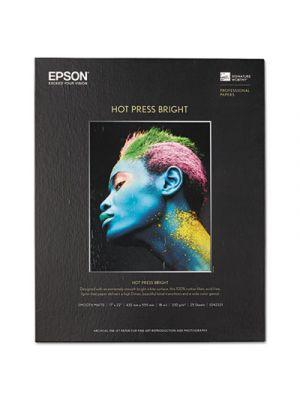 Hot Press Bright Fine Art Paper, 17 x 22, Bright White, 25 Sheets