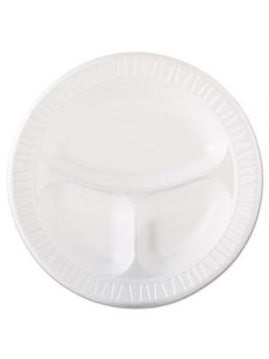 Laminated Foam Dinnerware, Plate, 3-Comp, 10 1/4