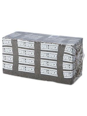 Grill Brick, 8 x 4, Black, 12/Carton
