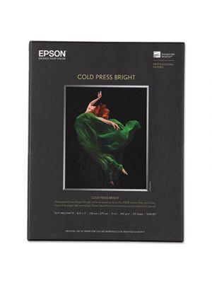 Cold Press Bright Fine Art Paper, 8-1/2 x 11, Bright White, 25 Sheets
