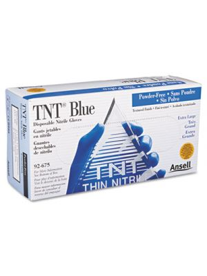 TNT Disposable Nitrile Gloves, Non-powdered, Blue, X-Large, 100/Box