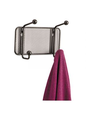 Onyx Mesh Wall Racks, 2-Hook, Steel
