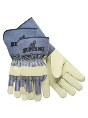 Mustang Premium Grain-Leather-Palm Gloves, 4 1/2 in. Long, Medium