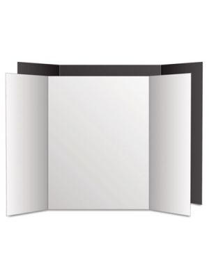 Too Cool Tri-Fold Poster Board, 36 x 48, Black/White, 6/PK