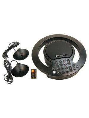 Aura SoHo Plus Conference Phone, 3 Built-In/2 External Microphones, Black