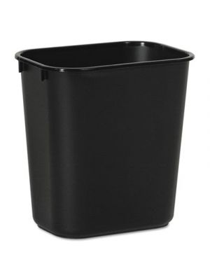 Soft-Sided Wastebasket, 14qt, Plastic, Black