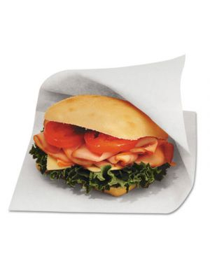 Dubl Open Grease-Resistant Sandwich Bags, 6w x 3/4 x 6 1/2h, White, 8000/Carton