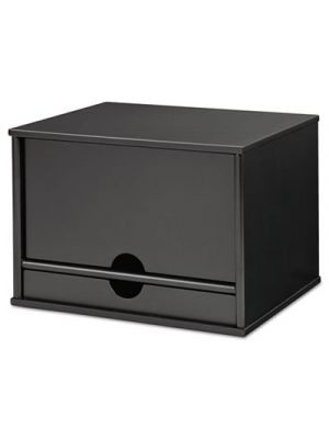Midnight Black Collection Desktop Organizer, 13 3/10 x 10 1/2 x 9 1/5, Wood