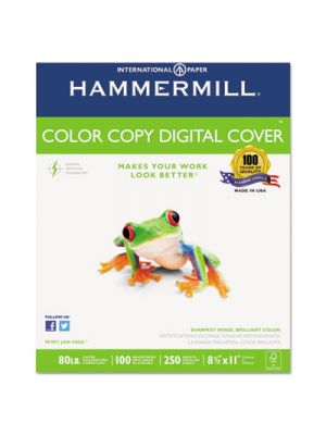 Copier Digital Cover Stock, 80 lbs., 8 1/2 x 11, Photo White, 250 Sheets