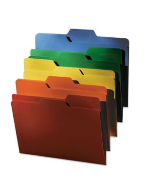 FindIt File Folders; 1/3 Cut; 11 Pt Stock; Letter; Assorted; 80/PK