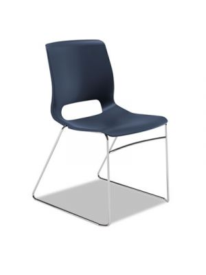 Motivate High-Density Stacking Chair, Regatta, Base: Chrome, 4/Carton