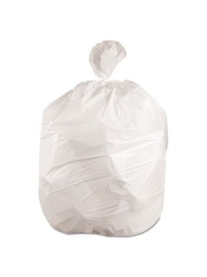 Waste Can Liners, 8-10gal, 24 x 23, .4mil, White, 25 Bags/Roll, 20 Rolls/CT