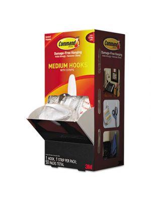 General Purpose Hooks, Designer, 3lbs Capacity, White, 50/Carton