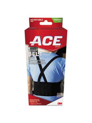 Work Belt with Removable Suspenders, One Size Adjustable, Black